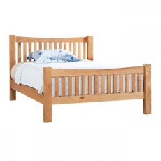 Dorchester Oak Kingsize 5ft High Foot End Bed Frame