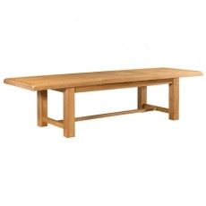 Clover Oak Extra Large Extending Dining Table 220