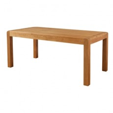 Avondale Waxed Oak Fixed Top Dining Table 180 x 90