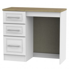 Kent 3 Drawer Vanity Dressing Table in White Ash and Oak