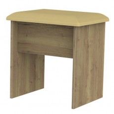 Kent Dressing Table Stool in White Ash and Oak