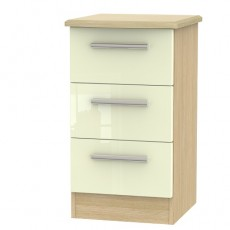 Knightsbridge 3 Drawer Bedside Locker (available in a wide range of colour finishes)
