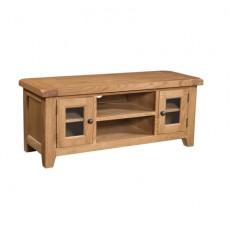 Somerville Light Oak Waxed Large TV Unit