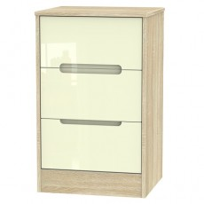 Monaco 3 Drawer Bedside Locker (available in a wide range of colour finishes)