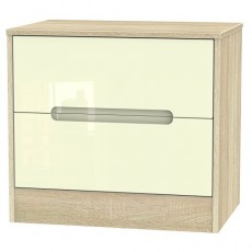 Monaco 2 Drawer Midi Chest (available in a wide range of colour finishes)