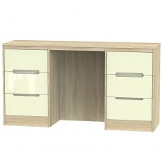 Monaco 6 Drawer Kneehole Dressing Table (available in a wide range of colour finishes)