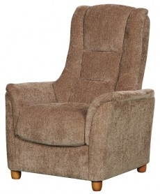 Derwent Chenille Fabric Fixed Armchair in Mink