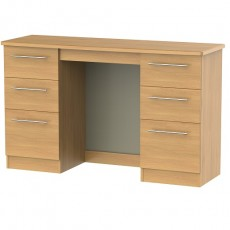 Sherwood 6 Drawer Kneehole Dressing Table (available in 5 colour finishes)