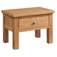 Dorchester Oak Side Table with Drawer