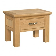 Siento Light Oak Side Table with Drawer