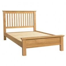 Siento Light Oak Double 4ft 6 Low Foot End Bed Frame