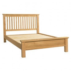 Siento Light Oak Kingsize 5ft Low Foot End Bed Frame