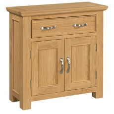 Siento Light Oak Small 2 Door 1 Drawer Sideboard