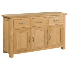 Siento Light Oak 3 Door 3 Drawer Sideboard