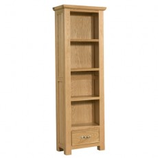 Siento Light Oak Tall Bookcase with 1 Drawer 600 x 1800