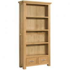 Siento Light Oak Tall Bookcase with 2 Drawers 900 x 1800