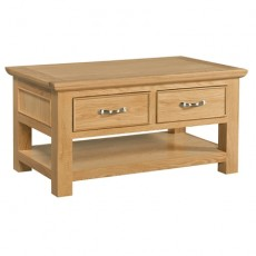 Siento Light Oak Coffee Table with 2 Drawers