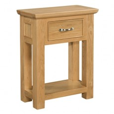 Siento Light Oak 1 Drawer Console Table