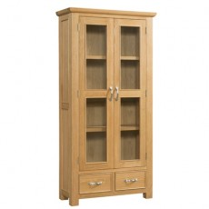 Siento Light Oak 2 Door 2 Drawer Display Cabinet