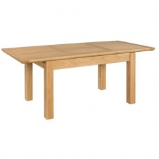 Siento Light Oak Butterfly Extending Dining Table 120cm