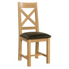 Siento Light Oak Cross Back Dining Chair