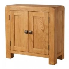 Avondale Waxed Oak 2 Door Cabinet