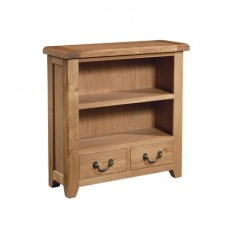 Somerville Light Oak Waxed 2 Drawer Small Bookcase 900 x 900