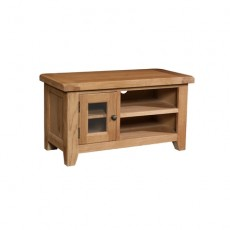 Somerville Light Oak Waxed Small TV Unit