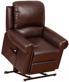 Belford Single Motor Rise and Recline Electric Armchair in Nut Brown