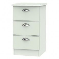 Victoria 3 Drawer Bedside Locker (available in 3 colour finishes)