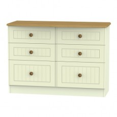 Arlington 6 Drawer Midi Chest (available in 5 colour finishes)