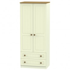 Arlington 2ft 6 2 Drawer Wardrobe (available in 5 colour finishes)