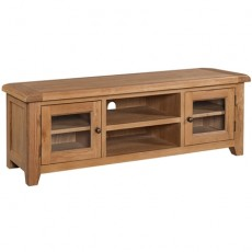 Somerville Light Oak Waxed Wide Screen TV Unit