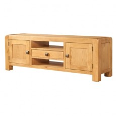 Avondale Waxed Oak Wide TV Unit
